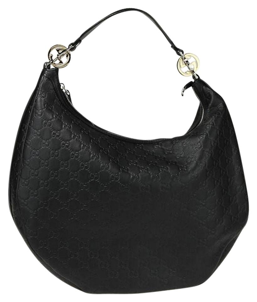 d29c56cecef Gucci Large Twins Gg Monogram Black Leather Hobo Bag - Tradesy