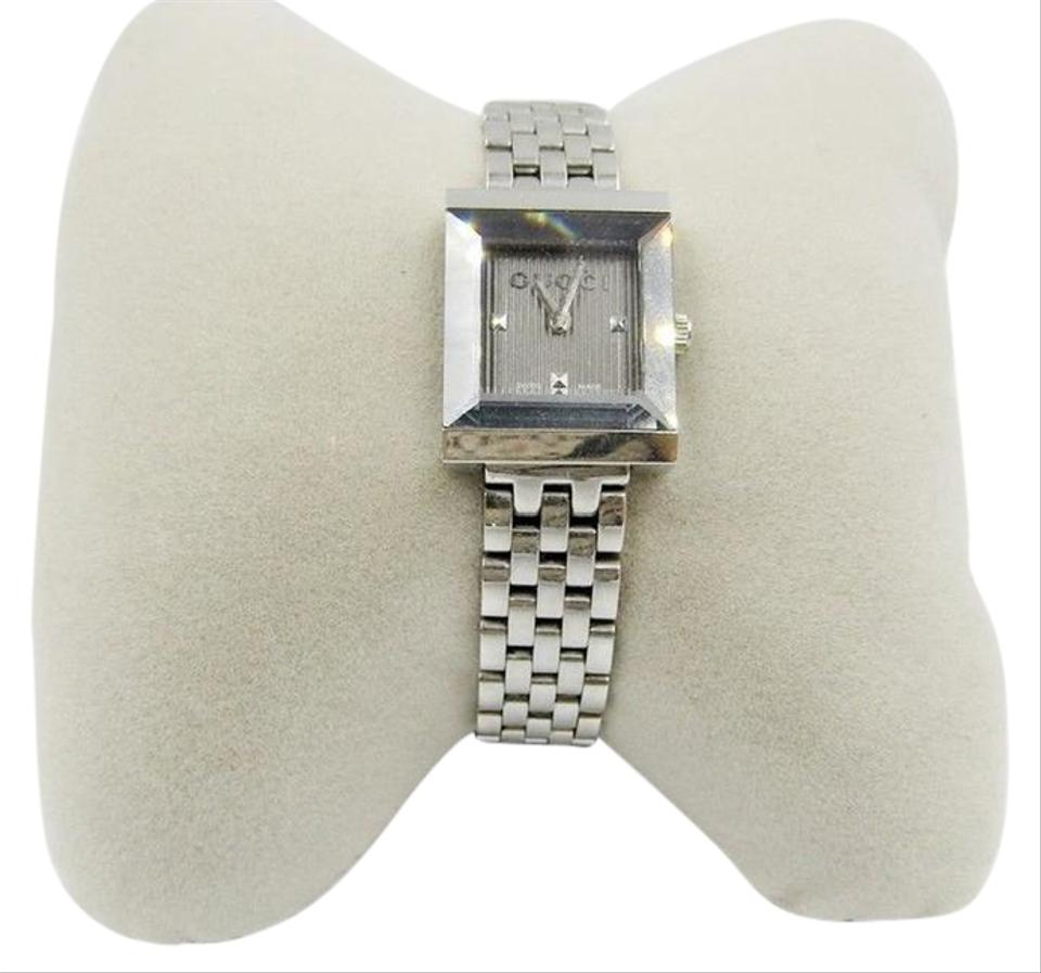 Gucci Silver New G-frame Wrist Ya128403 Square Stainless Steel Swiss ...