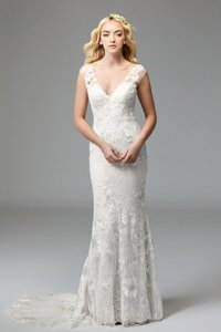 Watters Ivory Doyle 57110 (Willowby By Modern Wedding Dress Size 6 (S)