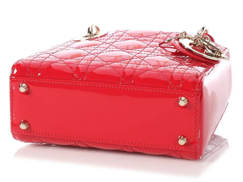 592b61c6737 Dior Lady **sold On Afc** Mini Quilted Red Patent Leather Cross Body Bag -  Tradesy