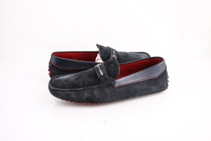 Ferrari Navy Suede Loafers Shoes