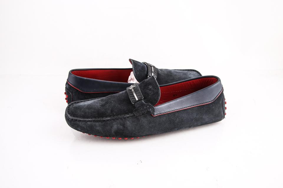 7401e8fef3a Ferrari Navy Suede Loafers Shoes Image 0 ...