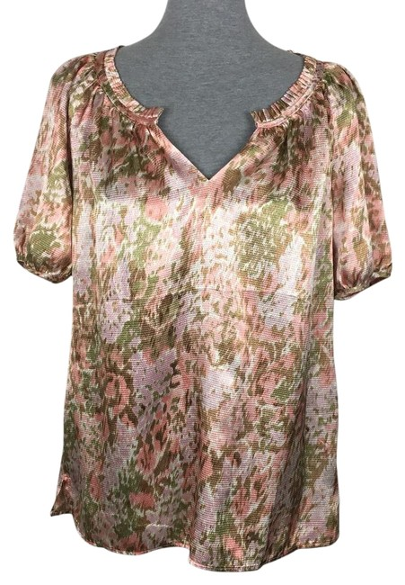 Preload https://img-static.tradesy.com/item/22209756/talbots-pink-gold-and-oversized-blouse-size-6-s-0-1-650-650.jpg