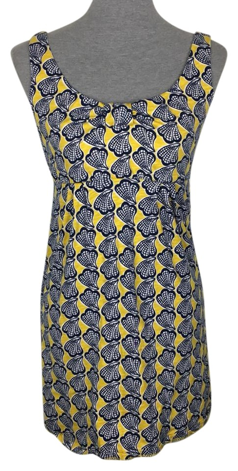 Boden yellow blue white paisley mini tunic short casual for Boden yellow