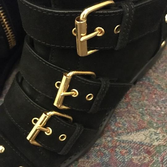 Giuseppe Zanotti Made In Italy Studded Leather Statement Black Boots