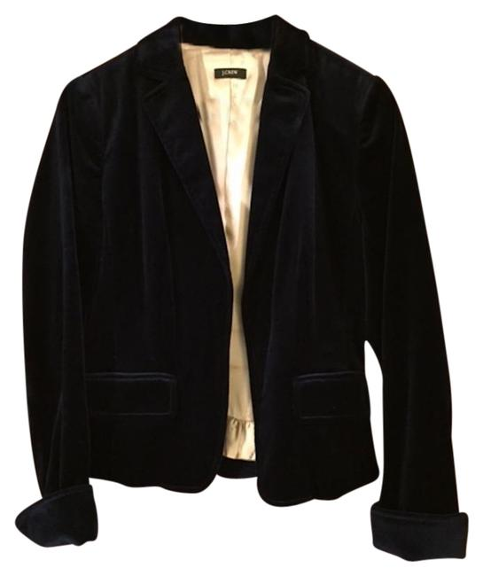 J.Crew Velvet Fitted Navy Jacket