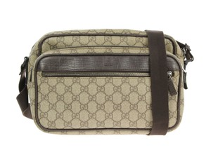 Gucci Gg Monogram Messenger Cross Body Bag