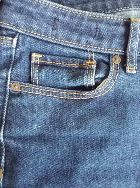 Abercrombie & Fitch Chic Comfortable Couture Straight Leg Jeans-Medium Wash