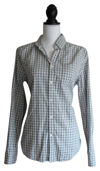 Lucky brand white grey white label fit button down shirt for Lucky brand button down shirts