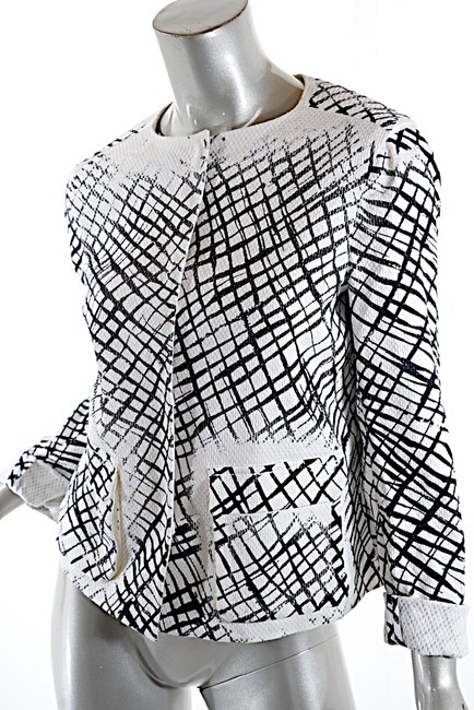Piazza Sempione Cotton Stretch Black & WHite Jacket