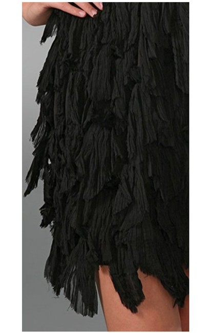 Elizabeth and James Structured Silk Ruffle Tiered Dress