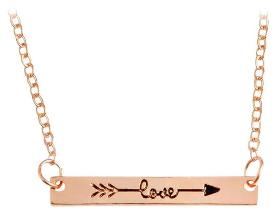 Other NWOT Rose Gold Love Necklace
