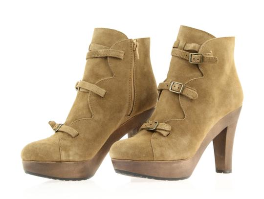 See by Chloé Suede Platform Strappy Brown Boots