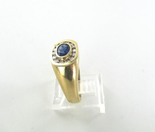 Other 14KT SOLID YELLOW GOLD RING 14 DIAMONDS .35 CARAT 7.9 GRAMS SZ 10.5 SAPPHIRE