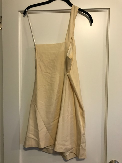 Theory One Shoulder Wool Dress