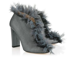 Jimmy Choo Fur Ladine Metalic Anthracite Boots