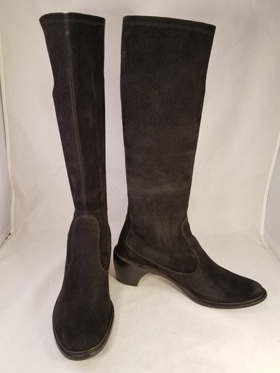 Stuart Weitzman Suede Color Woman Made In Spain Black Boots