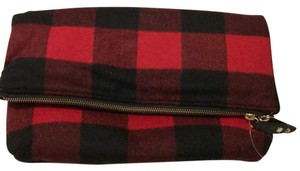 Talbots Red and Black Clutch