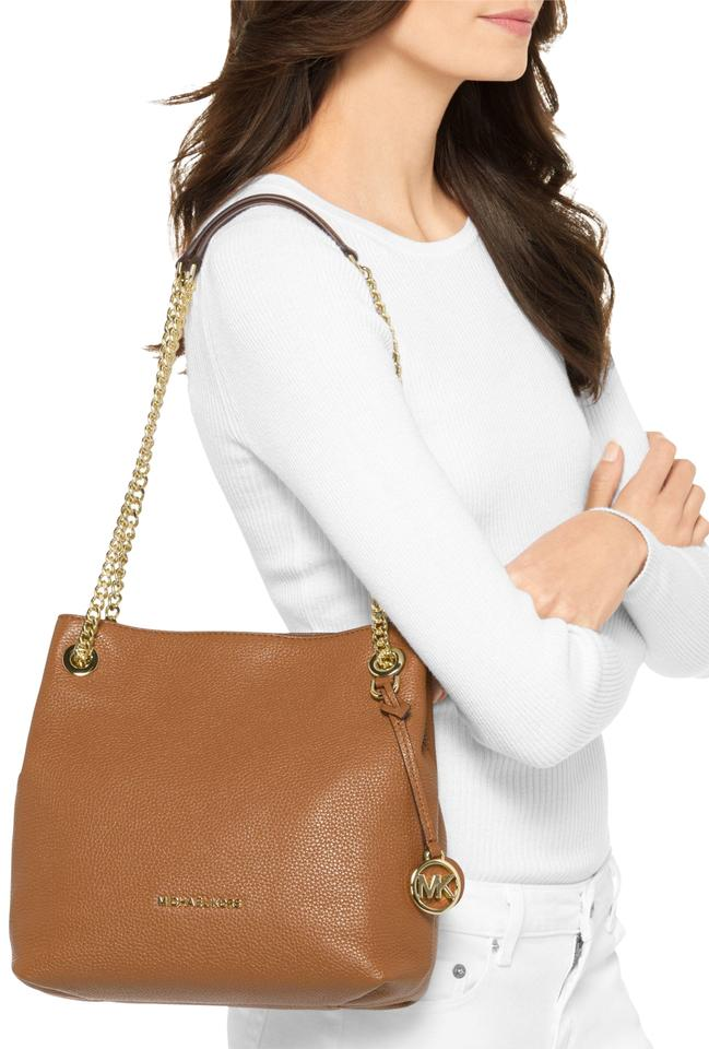 ac8bf8544ab30 Michael Kors Jet Set Chain Medium Crossbody Acorn Leather Shoulder ...