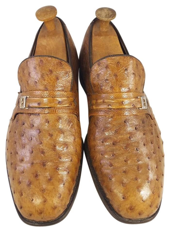 4fddd940300ce FootJoy Brown Men's Eee Exotic Ostrich Loafers Slip Ons Vintage Formal  Shoes Size US 9 Extra Wide (Ww, Ee)