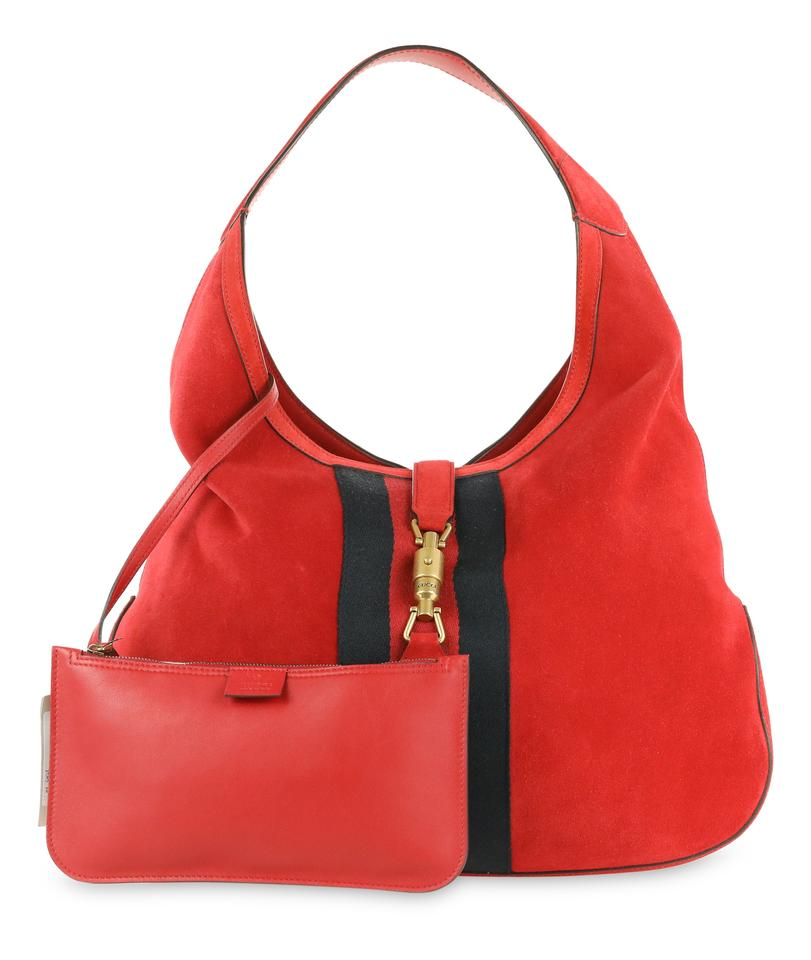 Gucci Jackie Red Suede Leather Hobo Bag - Tradesy 9717cd346793d
