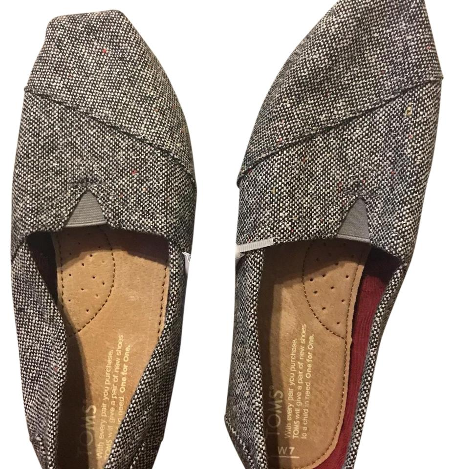 06d53c3248f TOMS Black Multi Speckle Chambray Womens Classics - W Colors - Flats ...