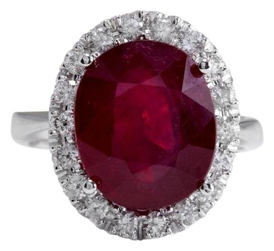 Preload https://img-static.tradesy.com/item/22211022/white-gold-965-carats-natural-red-ruby-and-diamond-14k-solid-ring-0-1-540-540.jpg
