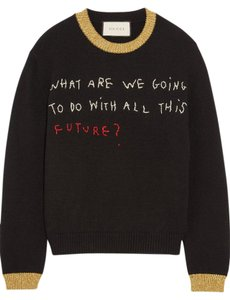 Gucci Coco Embroidered Knitted Sweater