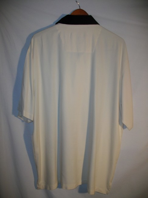 Stacey Adams Button Down Shirt White and Blue