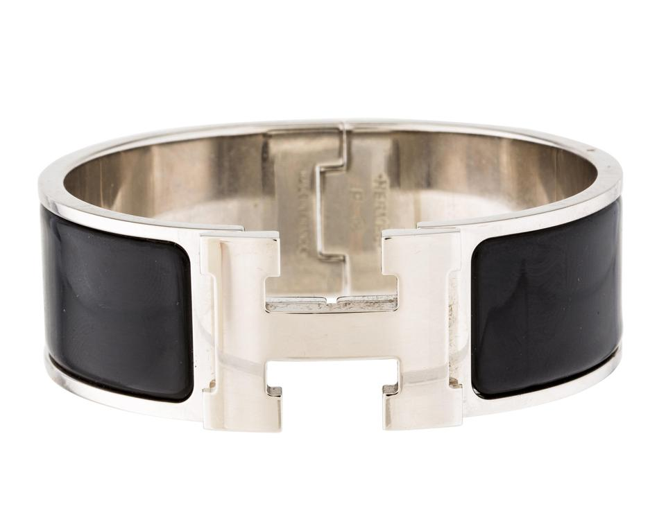 dd8fe793137 Palladium-plated Hermes Wide Clic Clac H bracelet PM on .