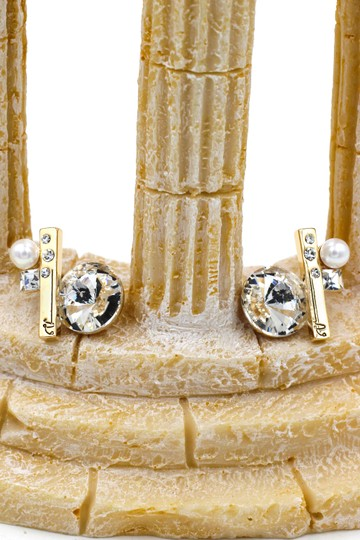 Ocean Fashion Special crystal gold earrings