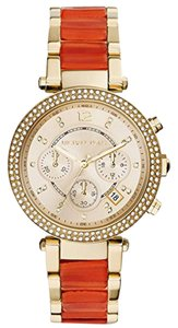 Michael Kors gold (Gold/orange) Parker watch