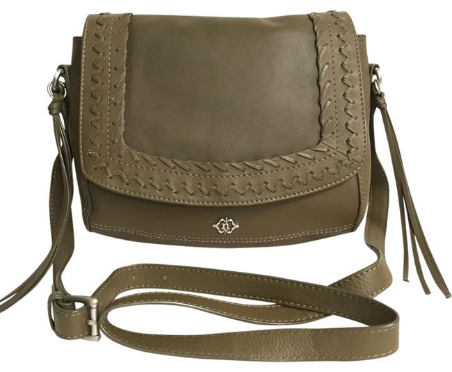 Item - Cortina Flap Over Saddle Green Leather Cross Body Bag