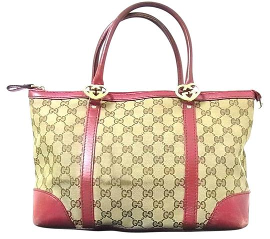 Preload https://img-static.tradesy.com/item/22211815/gucci-vintage-pursesdesigner-purses-dark-brown-large-g-logo-print-canvas-and-dark-redpink-leather-le-0-1-540-540.jpg