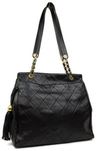 Chanel Quilted Tote Lambskin Tote Fringe Tote Tassle Tote Chain Tote Shoulder Bag