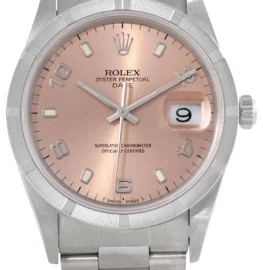 Preload https://img-static.tradesy.com/item/22211920/rolex-stainless-steel-and-salmon-15210-watch-0-1-540-540.jpg