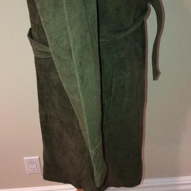 Forever 21 moss green Leather Jacket