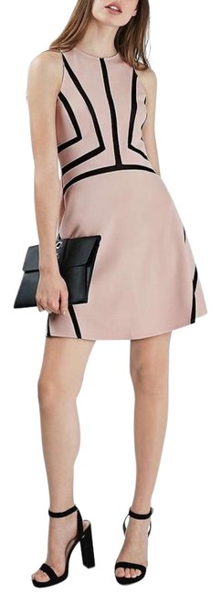 Preload https://img-static.tradesy.com/item/22211969/topshop-blush-black-contrast-sleeveless-a-line-eur38-us6-uk10-fits-4-short-casual-dress-size-6-s-0-3-650-650.jpg