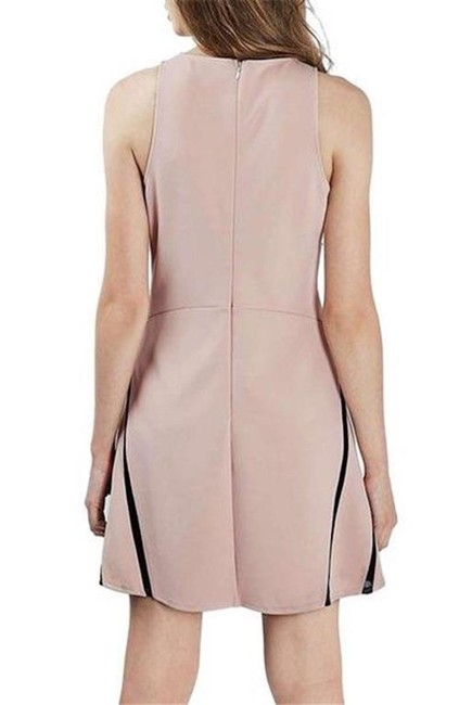 Topshop short dress Blush black Nude on Tradesy