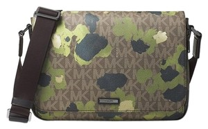 Michael Kors Jet Set Printed Green Camo Messenger Bag