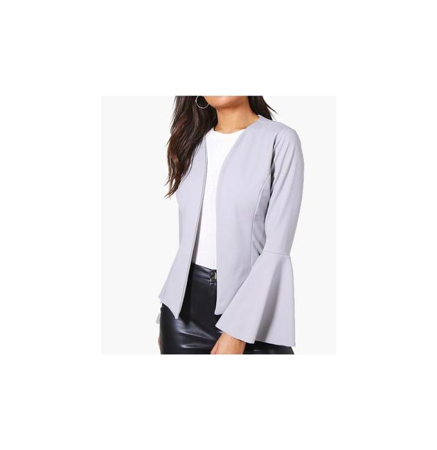Preload https://img-static.tradesy.com/item/22212057/grey-isabella-flare-sleeve-collarless-blazer-ml-cardigan-size-10-m-0-0-650-650.jpg
