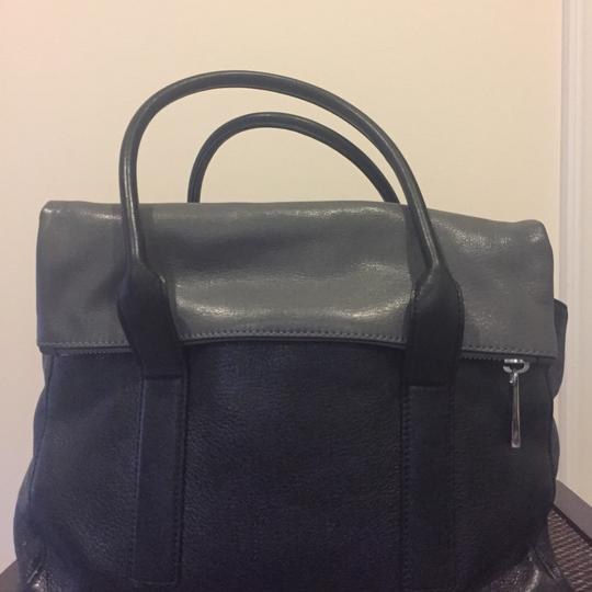 MICHAEL Michael Kors Satchel in Black and Gray