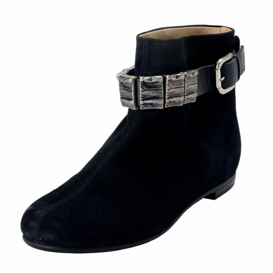 Preload https://img-static.tradesy.com/item/22212242/vicini-black-tapeet-women-s-suede-decorated-ankle-bootsbooties-size-us-7-regular-m-b-0-0-540-540.jpg