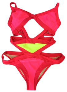 c4274dc68d Agent Provocateur Agent Provocateur Mazzy Pink Red Yellow One-Piece Swimsuit  Bikini sz 3