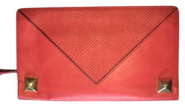 Linea Pelle Red Leather Clutch Linea Pelle Red Leather Clutch Image 1