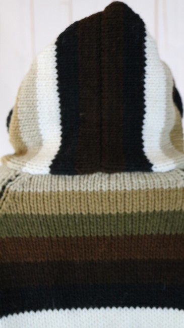 Unbranded Zip Front Bulky Handmade Ecuador Thick Sweater