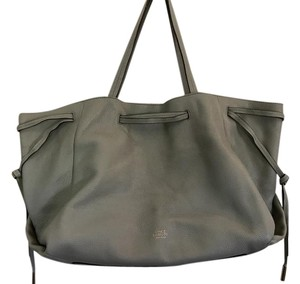 Vince Camuto Leather Tote in Ghost Gray