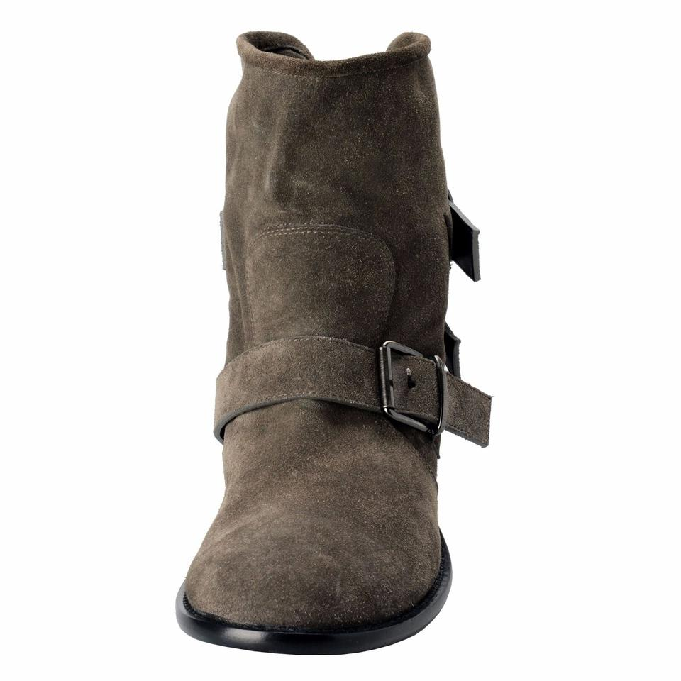 a0e22b543a5 Giuseppe Zanotti Gray Design Women's Suede Buckle Up Ankle Boots ...