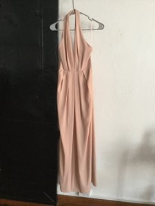Jill Stuart Rose Gold Rose Blush Crepe and Satin Anthropologie Bhldn Formal Bridesmaid/Mob Dress Size 2 (XS)
