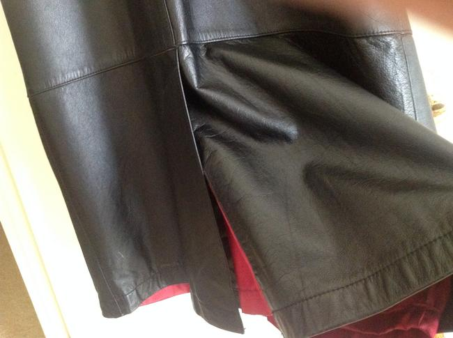 Maggie and Lawrence Leather Black Long Size Medium Winter Coat L@@K